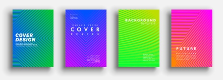 Minimal covers design. Colorful halftone gradients. Modern Art graphics for hipsters. Vector template brochures, flyers, presentations, leaflet. Vector Illustration