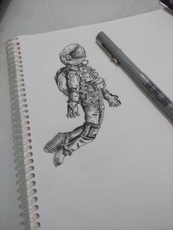Astronauts drawing Reklamní fotografie
