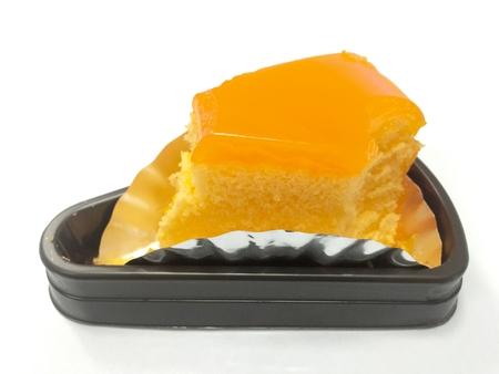 gelatina: Primer plano de pastel de mermelada de naranja