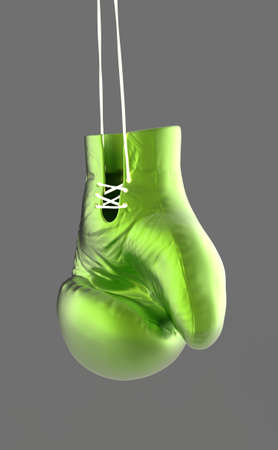 lace gloves: golden boxing gloves hang on lace 3d render