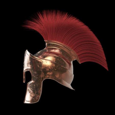 sparta: high quality spartan helmet, Greek roman warrior Gladiator, legionnaire heroic soldier, sprts fan, 3d render isolated