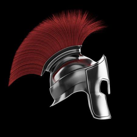 high quality spartan helmet, Greek roman warrior Gladiator, legionnaire heroic soldier, sprts fan, 3d render isolated