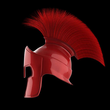 heroic: high quality spartan helmet, Greek roman warrior Gladiator, legionnaire heroic soldier, sprts fan, 3d render isolated