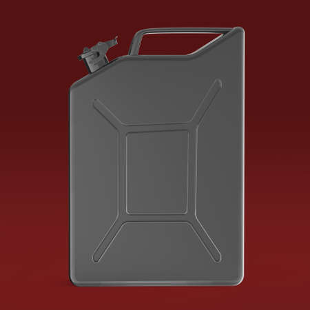 gold cans: dark blurry metal jerry can fuel canister 3d render isolated