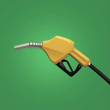 gasoline pump: filling gun. gas refuelling nozzle, gasoline pump 3d render isolated