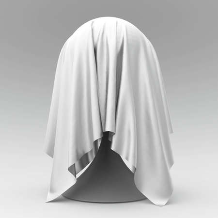 pelota cónica reposar cubierto con representación 3D de color gris claro textil de la tela mate