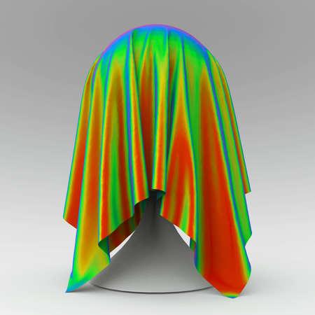 discreto: pelota cónica reposar cubierto con representación 3D de color gris claro textil de la tela mate