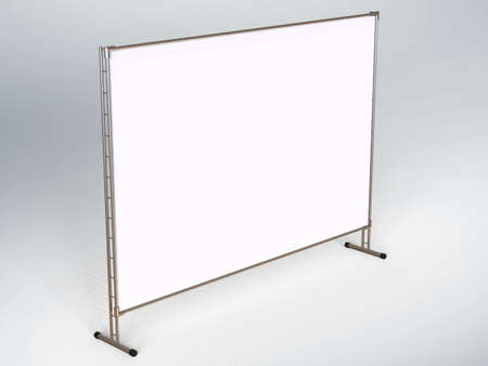 Mobile booth, brand Wall or Press Wall with a blank banner mockup 3d render