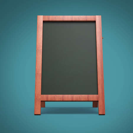 advertisement: Blank menu advertisement chalkboard blackboard outdoor display isolated 3d render