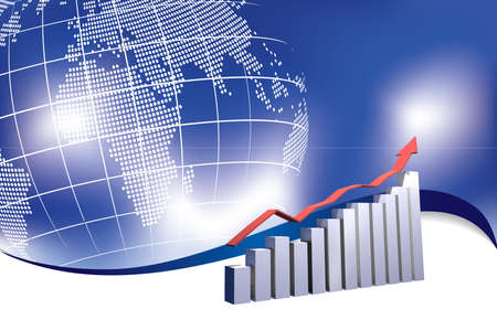 12 month growing chart with world map background Stock Photo - 6655033