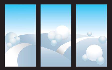 Natural clipart illustrating a cold winter scene Vector