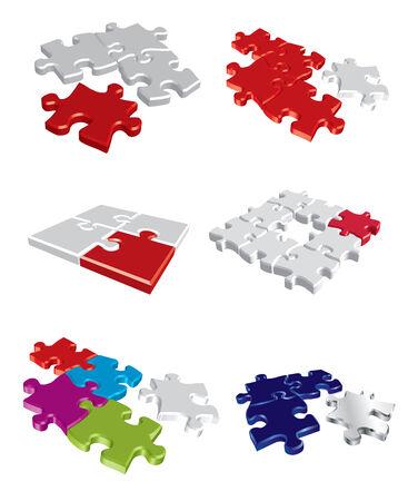 Colorful puzzle concepts Illustration