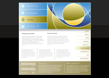 Business website template in editable format Stock Photo - 7375565