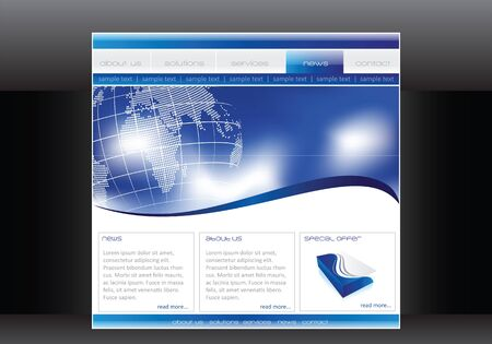 Business website template in editable  format Stock Photo