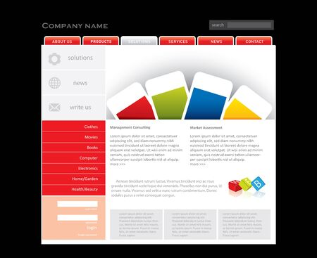 Business website template in editable  format Stock Photo - 7375568
