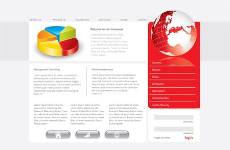 Business website template in editable vector format Stock Photo - 7424727