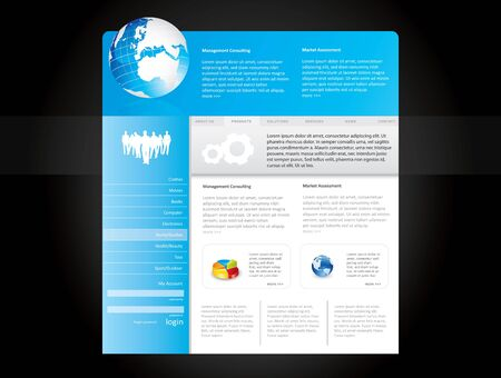 Blue website template in editable  format Stock Photo - 7920566