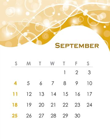 Monthly calendar for 2011 in editable   format Vector