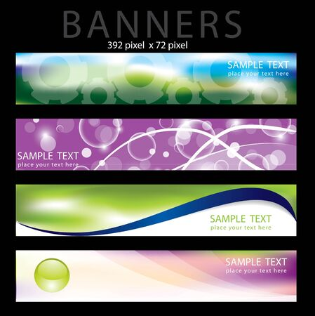 Four colorful banner in editable  format