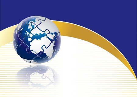 Puzzle globe concept in editable  format
