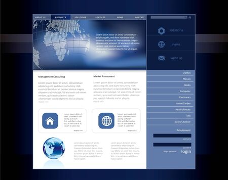 Business website template Stock Photo - 8001479