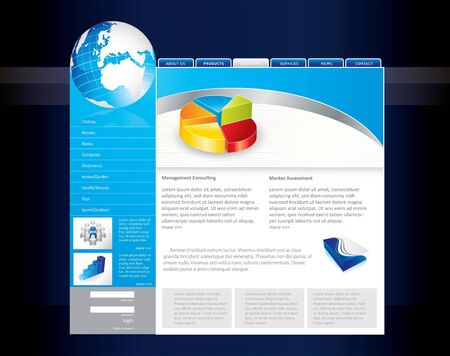 Business website template Stock Photo - 8001478