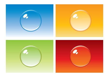 Colored bubble button in editable  format photo