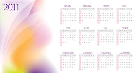 2011 calendar design in editable  format photo