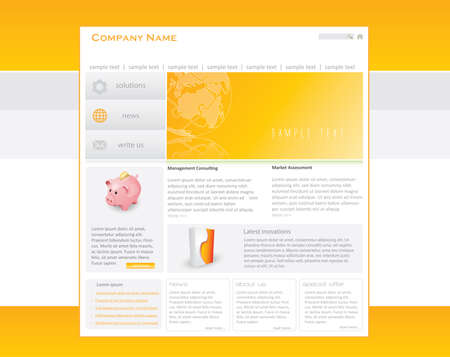 Business website template in editable  format Stock Photo - 8171140