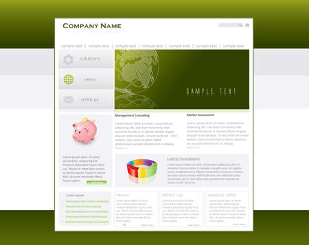 Business website template in editable  format Stock Photo - 8171142