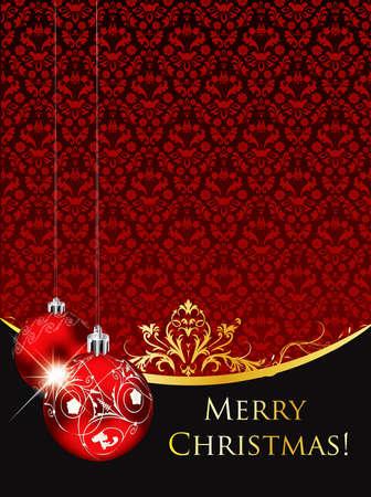 Vintage saludo de Navidad en formato editable Foto de archivo - 8340125