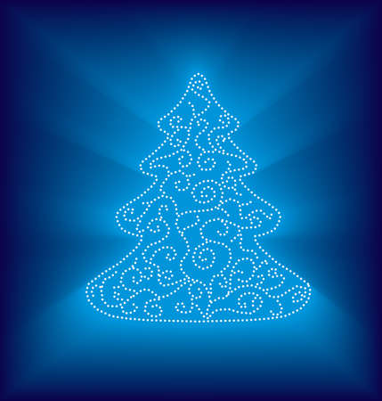 Modern abstract christmas tree Stock Photo - 8435358