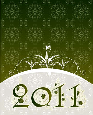 Vintage New Year greeting in editable vector format Stock Photo - 8435359