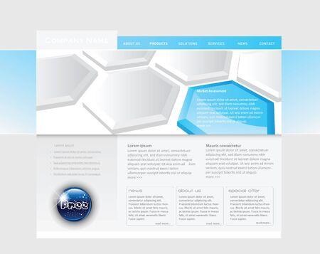 Conceptual Website template in editable vector format Vector