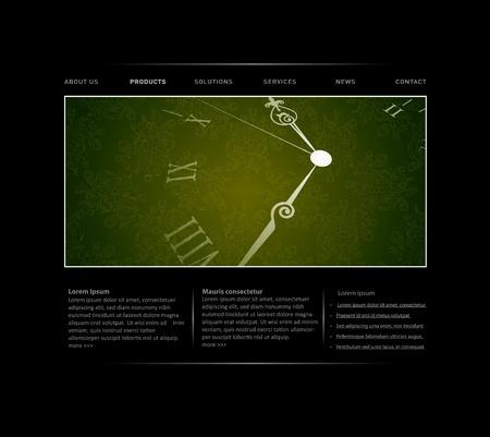 passing: Plantilla de sitio Web de pasar tiempo en formato vectorial editable Vectores