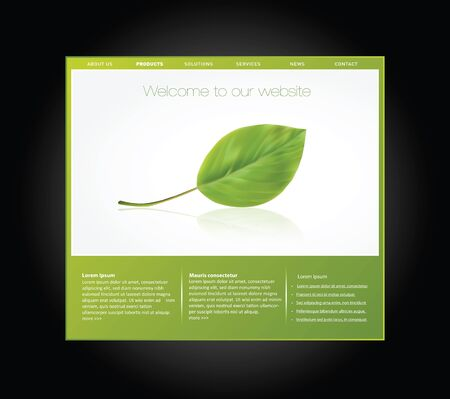 Ecology website template in editable vector format