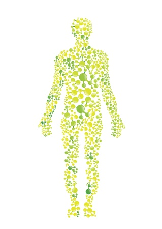 Green environmental concept of the human body
