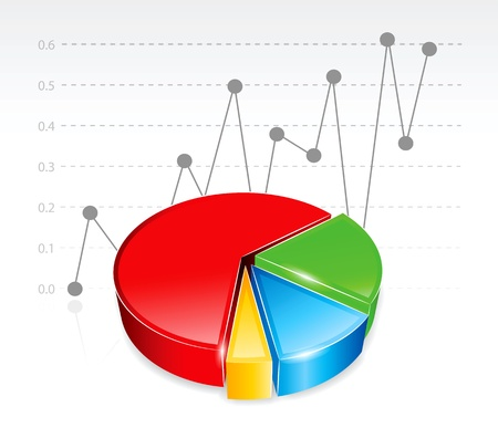 chart vector: Colored business chart in editable vector format. Illustration