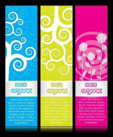 vertical banner: Vertical banner ads in several color variations