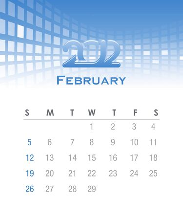 Colorful monthly vector calendar for 2012 with abstract background photo