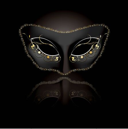 Venetian mask with black background  photo