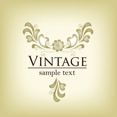 Elegant vintage frame in editable vector format photo