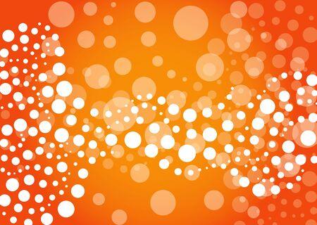 Abstract orange background in editable vector format Vector
