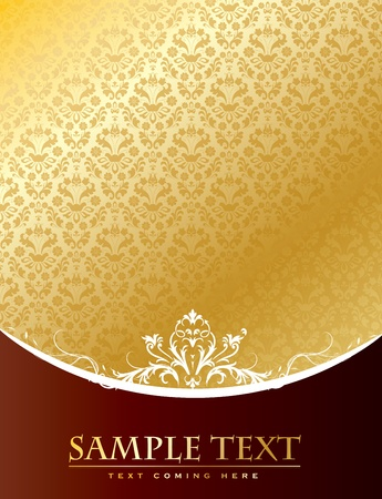 Gold Vintage background in editable vector format
