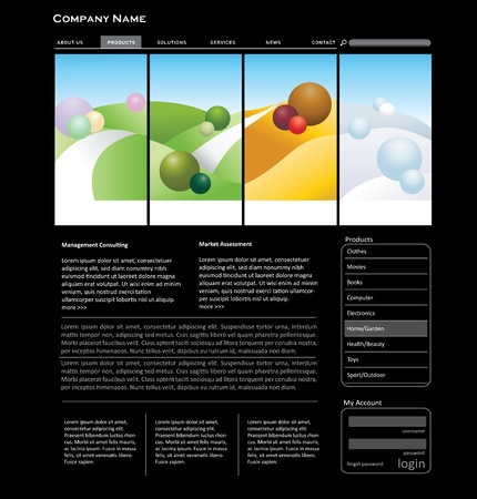 winter wheat: Website template concept in editable vector format