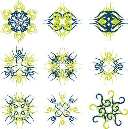 Abstract sun concepts in editable vector format photo