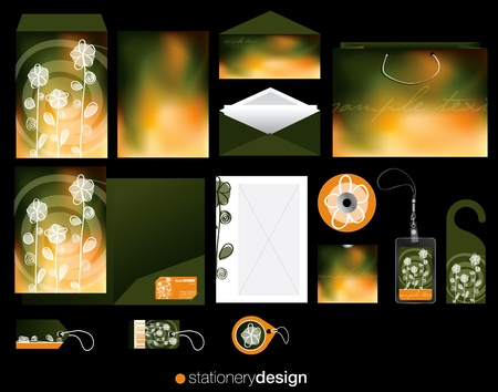 Stationery design set with hand drawn elements photo