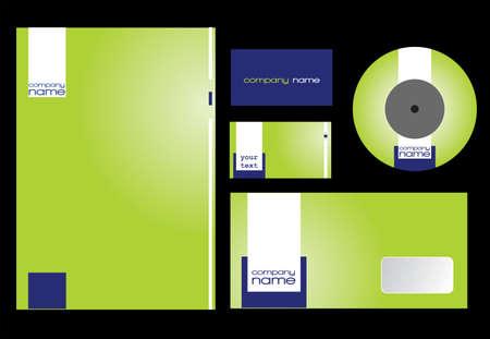 Green stationary design in editable Vector