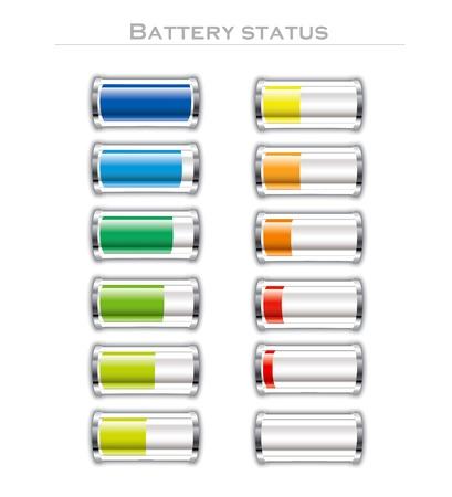 illustration of battery status Illustration