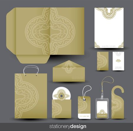 paper graphic: Stationery design set
